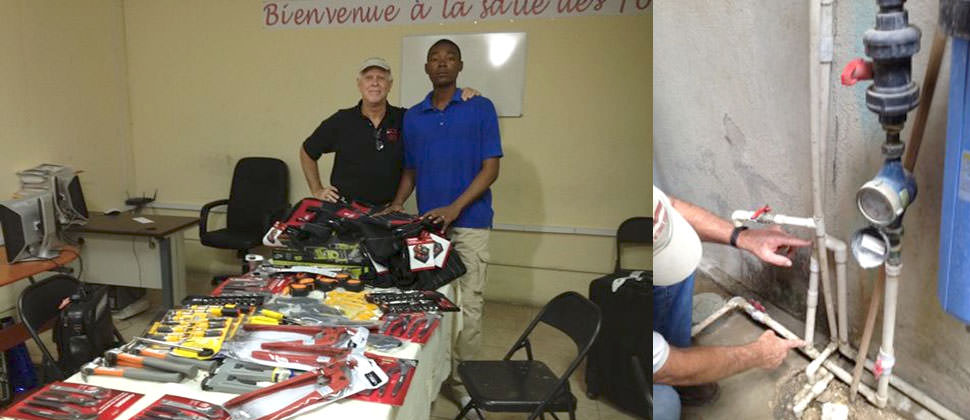 Suitcases filled with Tools for Haiti's future Plumbers!