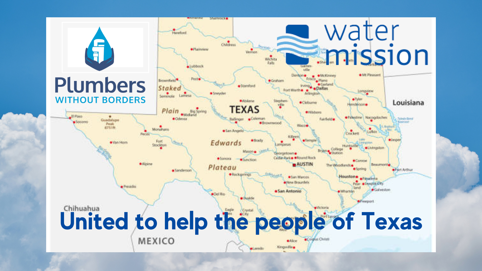 Thanks to the tremendous generosity of volunteer plumbers from across the country, and industry leaders stepping up to help the people of Texas, access to safe running running was restored for hundreds of families, whose pipes and plumbing systems were damaged by the freezing temperatures of February's storm Uri. (2021)